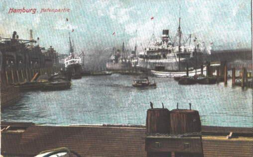 Hafenpartie. Ansichtskarte in farbigem Lichtdruck. Ungelaufen.: Hamburg -