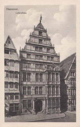 Leibnizhaus. Ansichtskarte in Lichtdruck. Ungelaufen.: Hannover -