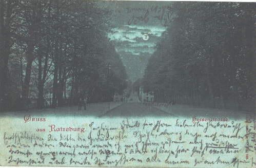 Gruss aus Ratzeburg. Herrenstrasse. Ansichtskarte in Lichtdruck.: Ratzeburg -