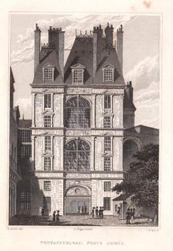 Porte Dorée. Stahlstich von J.Tingle nach B.Ferrey.: Fontainebleau -