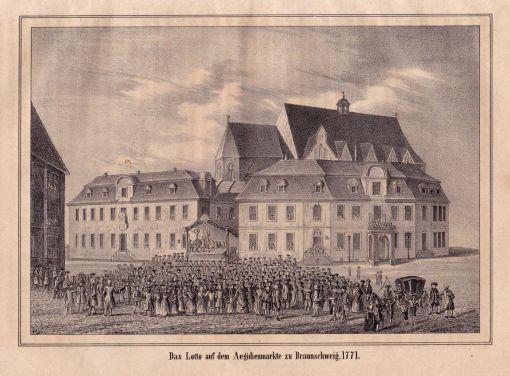Gesamtansicht. Stahlstich von A. Winkler aus Bilder-Magazin: Nazareth -