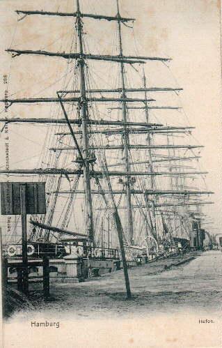 Hafen. Ansichtskarte in Lichtdruck. Ungelaufen.: Hamburg -