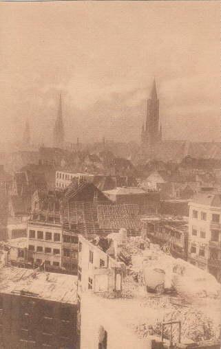 """Alt-Hamburg. """"Das Alte stürzt"""". Ansichtskarte in Lichtdruck.: Hamburg -"""