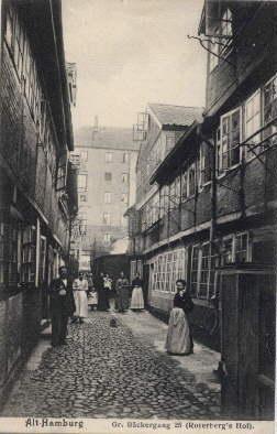 Alt- Hamburg. Gr. Bäckergang 25 (Roterberg`s Hof).: Hamburg -
