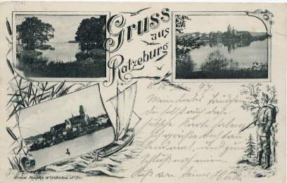 Gruss aus Ratzeburg. Ansichtskarte mit 3 Ansichten: Ratzeburg -