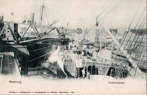 Petersenquai. Ansichtskarte in Lichtdruck. Ungelaufen.: Hamburg -