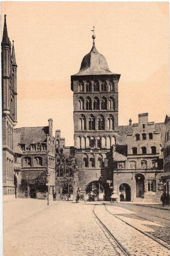 Burgtor. Ansichtskarte in Lichtdruck. Ungelaufen.: Lübeck -