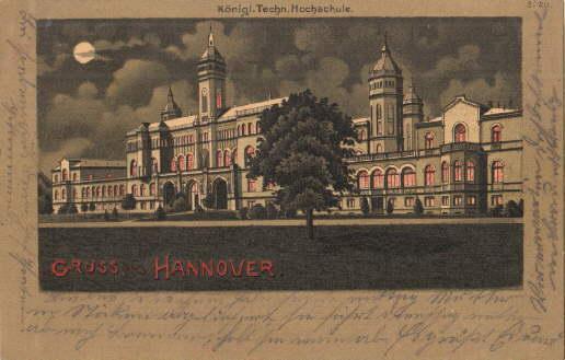 Gruss aus Hannover. Königl. Techn. Hochschule. Ansichtskarte: Hannover -