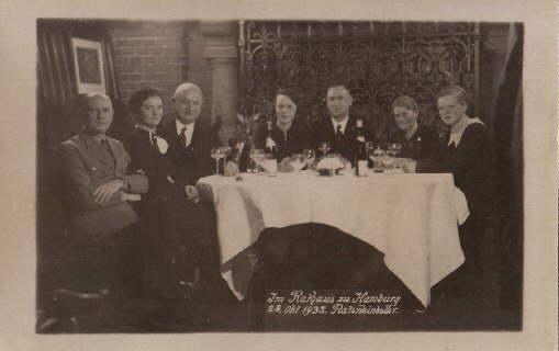 Im Rathaus zu Hamburg 26.Okt. 1935. Ratsweinkeller.: Hamburg -