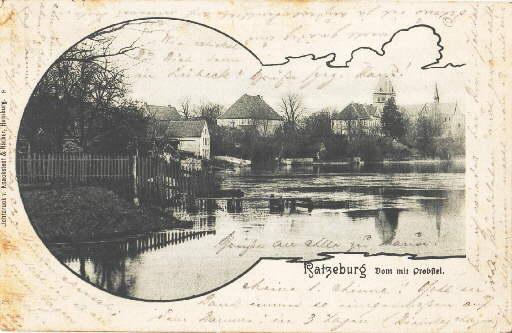 Dom mit Probstei. Ansichtskarte in Lichtdruck. Abgestempelt: Ratzeburg -