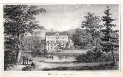 Reinhardsbrunn. Lithographie von Ed. Pietzsch.: Gotha -