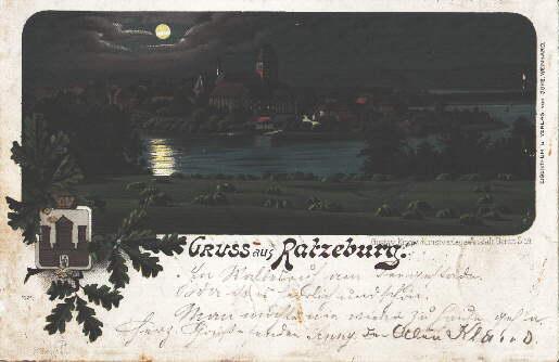 Gruss aus Ratzeburg. Ansichtskarte in farbiger Lithograhie.: Ratzeburg -