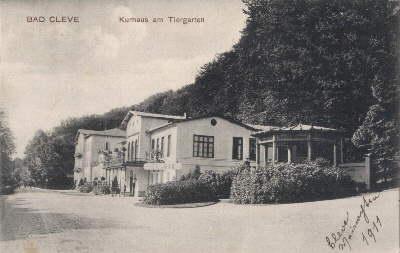 Bad Cleve. Kurhaus am Tiergarten. Ansichtskarte in: Kleve -