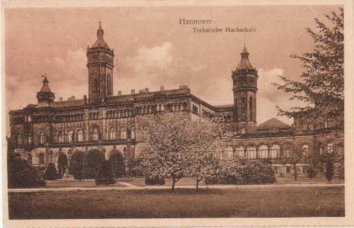Technische Hochschule. Ansichtskarte in bräunlichem Lichtdruck. Ungelaufen.: Hannover -