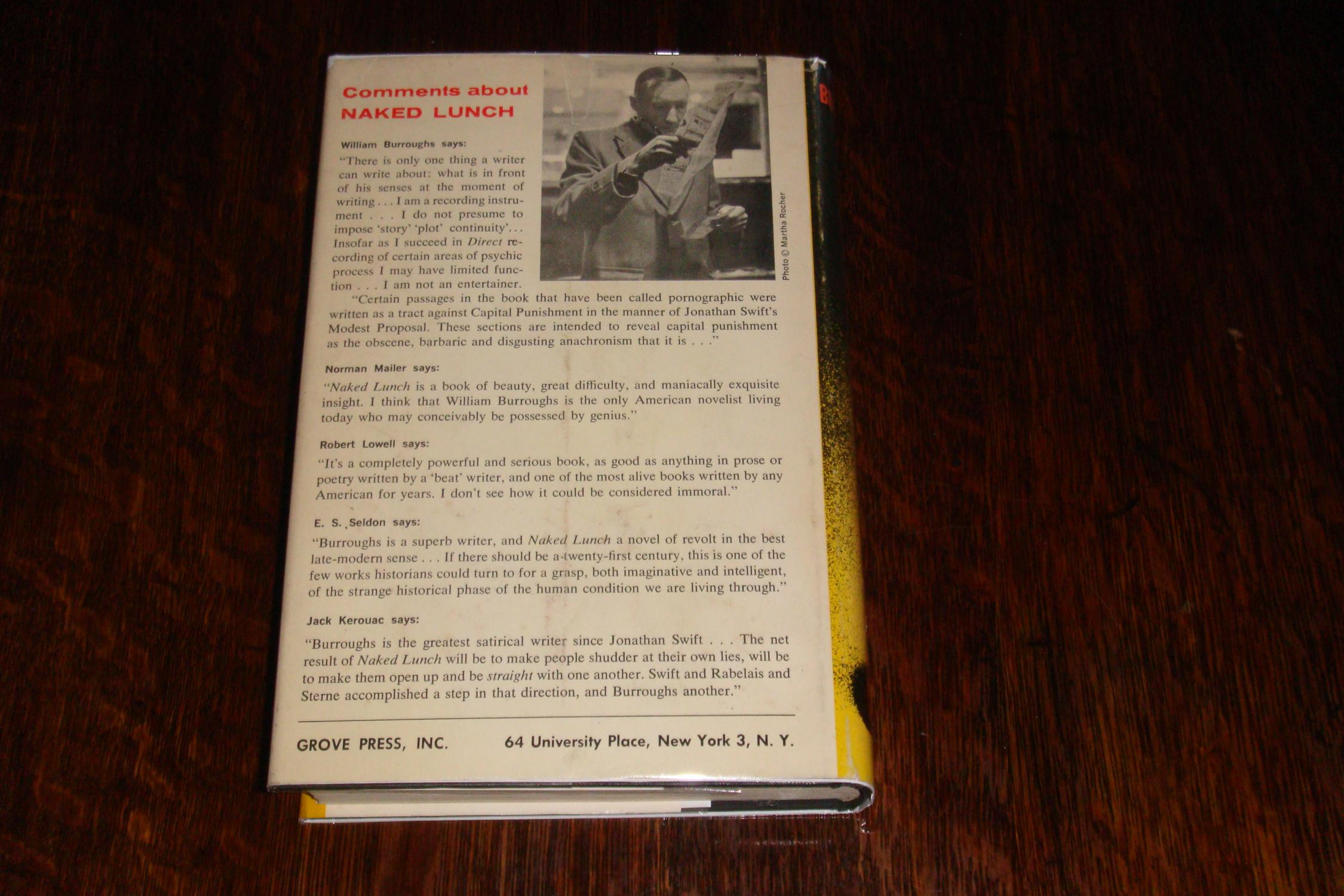 NAKED LUNCH by WILLIAM BURROUGHS: Near Fine Hardcover