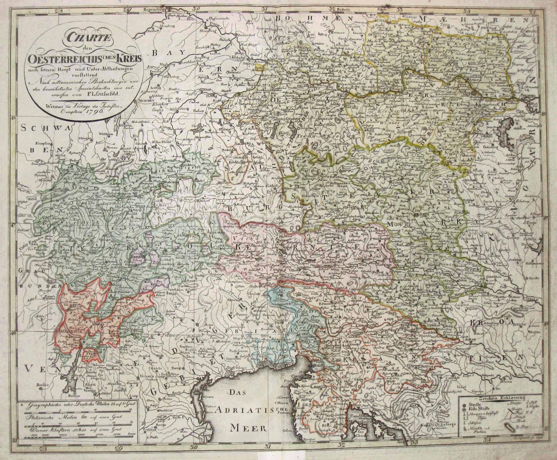 Charte den Oesterreichischen Kreis nach seinen Haupt: ÖSTERREICH (Austria) -