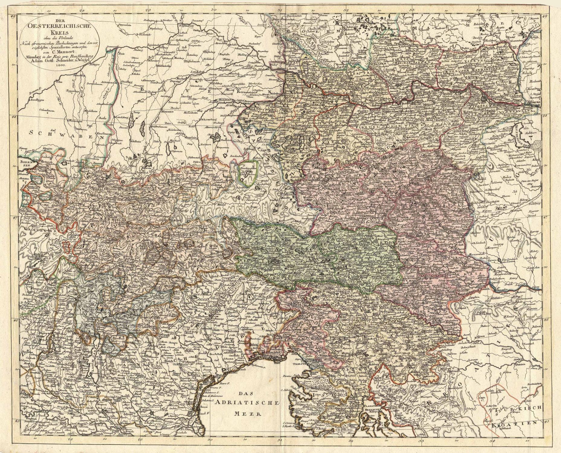Der Oesterreichische Kreis ohne die Vorlande Nach: ÖSTERREICH (Austria) -