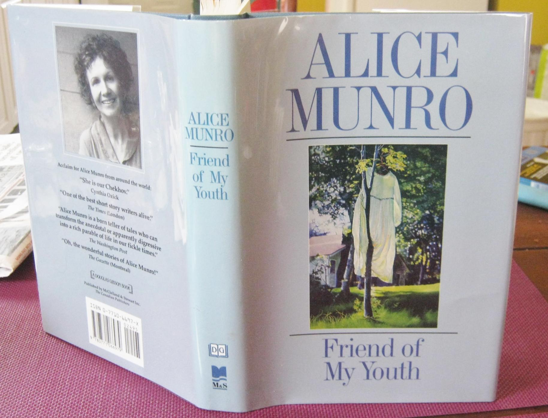 Friend Of My Youth Stories Inscribed By Munro Alice Hardcover 1990 First Canadian Printing Inscribed By Author Steven Temple Books Abac Ilab Ioba