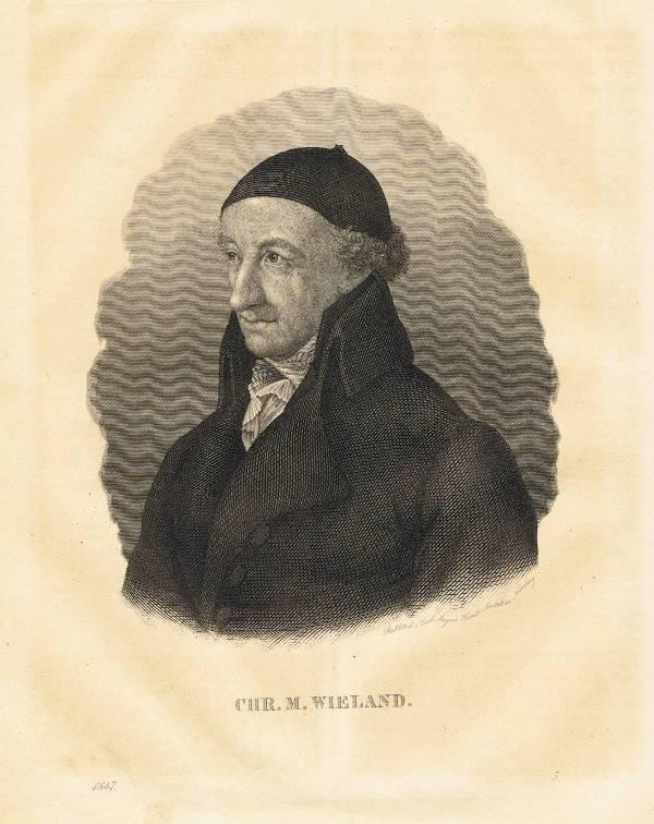 Wieland, Christoph Martin. 1733 - 1813. Stahlstich.: Mayers, Carl