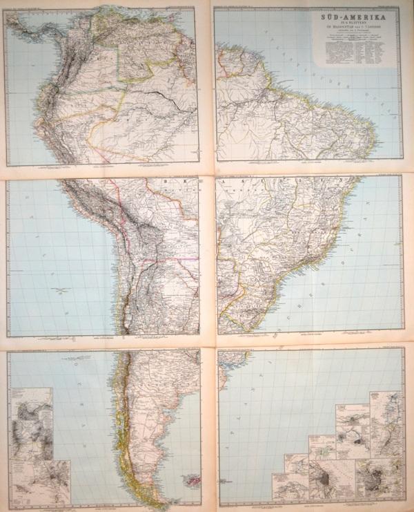 im Massstab 1:7.500.000, entworfen von A. Petermann: Süd - Amerika