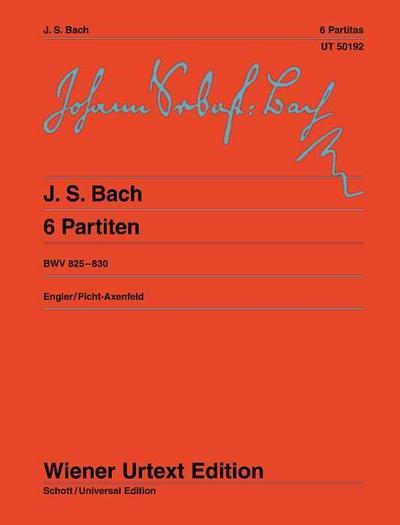 6 Partiten BWV 825-830, Klavier : Klavierübung I - Johann Sebastian Bach