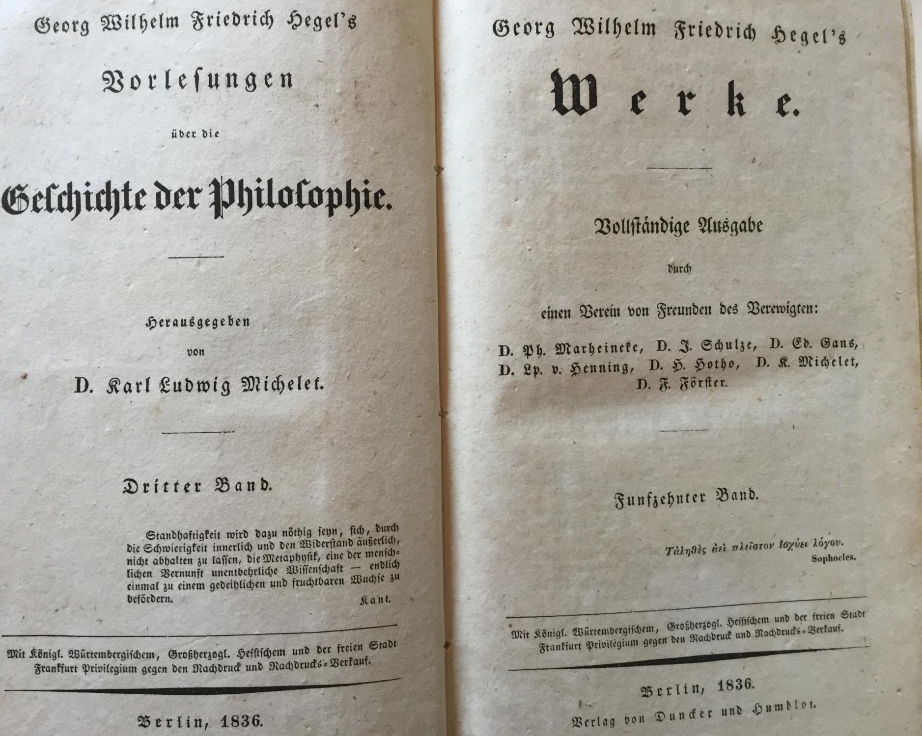 Hegel Vorlesungen über Die Philosophie Der Geschichte