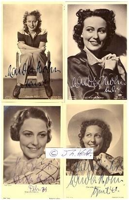 CAROLA HÖHN (1910-2005) deutsche Schauspielerin, 1941 heiratete: CAROLA HÖHN (1910-2005)