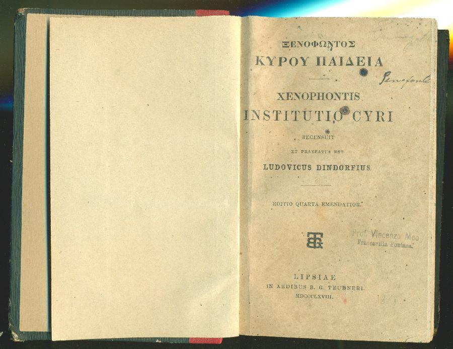 Institutio Cyri: XENOPHONTIS,
