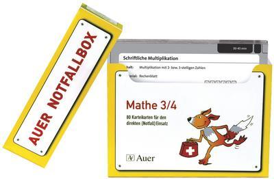 Schnelle Vertretungsstunden Mathe 3/4 : 80 Karteikarten für den direkten Einsatz aus der Auer-Notfallbox (3. und 4. Klasse) - Elisabeth Rodenwald