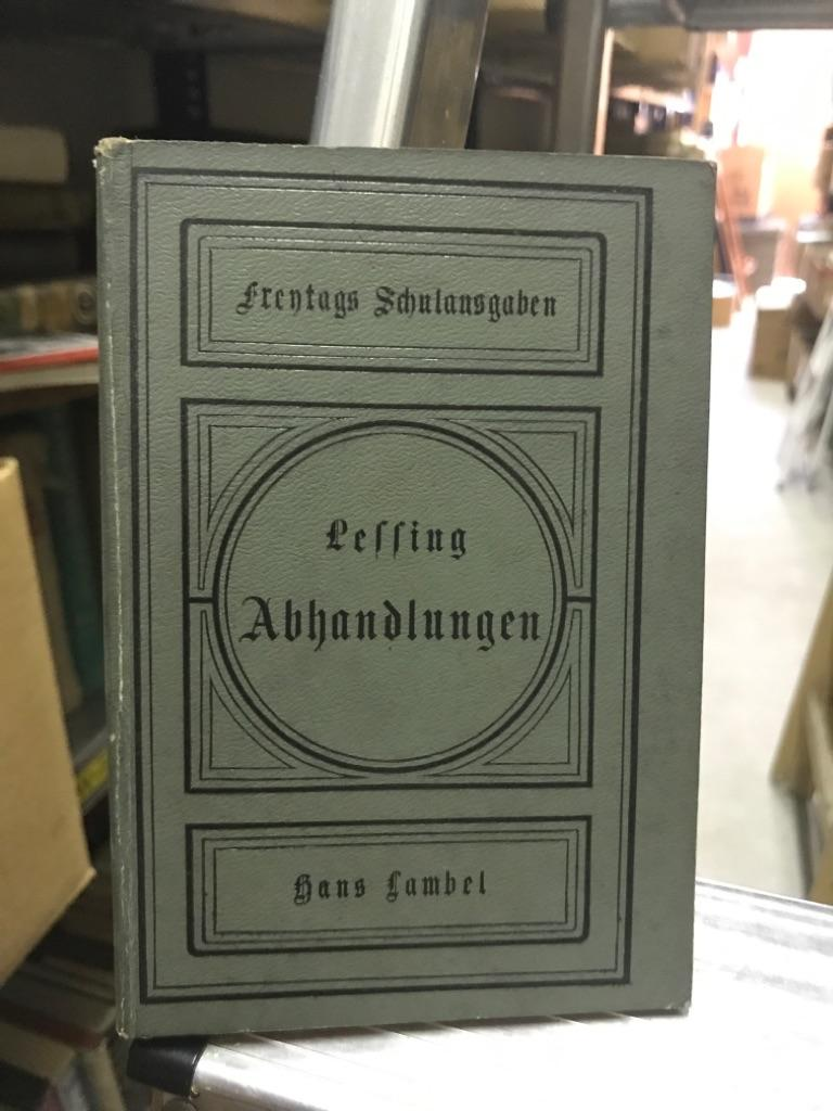 Abhandlung über die Fabel: Lessing , Gotthold