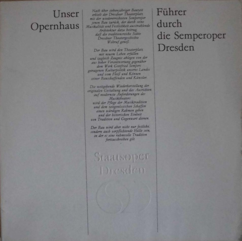 """Unser Opernhaus Führer durch die Semperoper Dresden: Ritter, Stefan/ """"Pieschel,"""