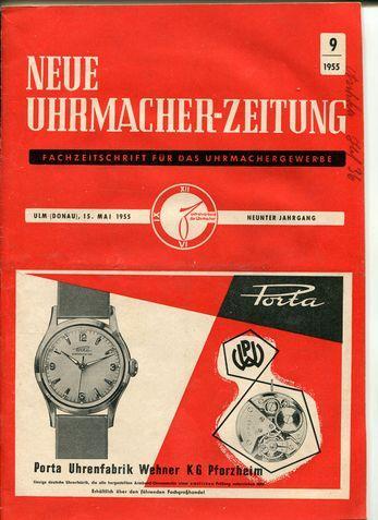 Neue Uhrmacher-Zeitung. Fachzeitschrift für das Uhrmachergewerbe. Neunter: Uhrmacher: