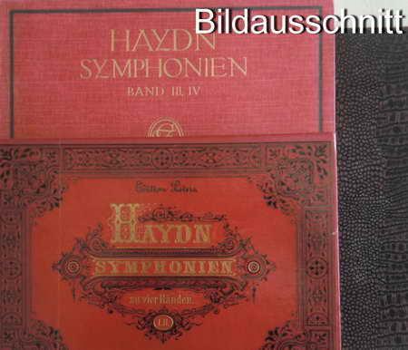 3 Musik-Bücher: Haydn Symphonien zu vier Händen: Ulrich, Hugo /