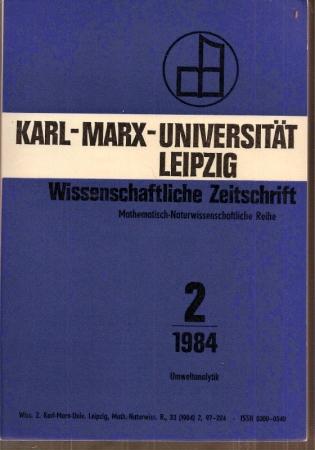 33.Jahrgang 1984, Heft 2: Karl-Marx-Universität Leipzig