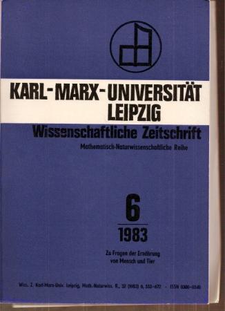32.Jahrgang 1983, Heft 6: Karl-Marx-Universität Leipzig