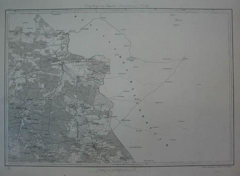 Umgebungen von Lopatin, Lesznión und Brody. Kupferstich-Karte: Ukraine