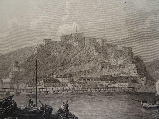 Stahlstich v. Price nach Tombleson, um 1850.: Ehrenbreitstein.