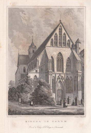 Kirche in Salem. Stahlstich von J.Klipphahn nach: Salem -