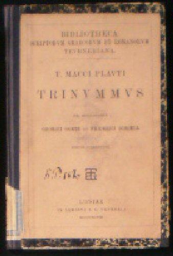 Trinummus: Plautus, Titus Maccius
