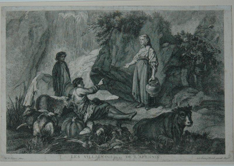 Les Villageois de l'Apennin. [Die Bauern aus: Hertel, Johann Georg