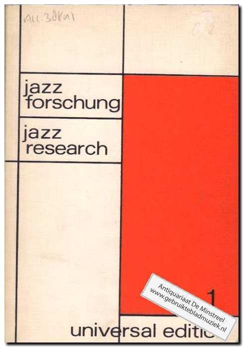 Jazz forschung 1: Korner, Friedrich en
