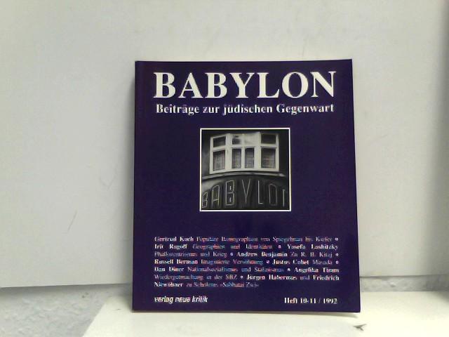 Babylon 10/11. Beiträge zur jüdischen Gegenwart: Brumlik, Micha, Dan
