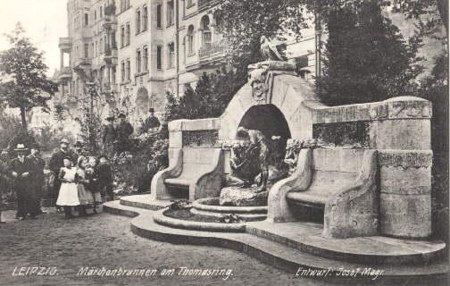 Märchenbrunnen am Thomasring. Ansichtskarte in Lichtdruck. Ungelaufen.: Leipzig -