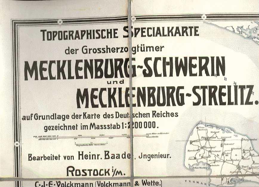 Topographische Special-Karte der Grossherzogthümer Mecklenburg-Schwerin und Mecklenburg-Strelitz: Baade, Heinrich (
