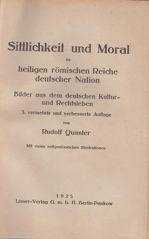 Sittlichkeit und Moral im heiligen Römischen Reich: Quanter, Rudolf