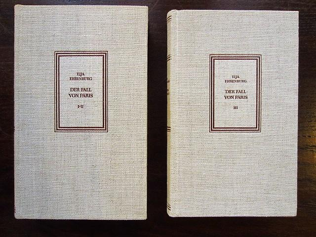 Der Fall von Paris 2 Bände: Ehrenburg, Ilja
