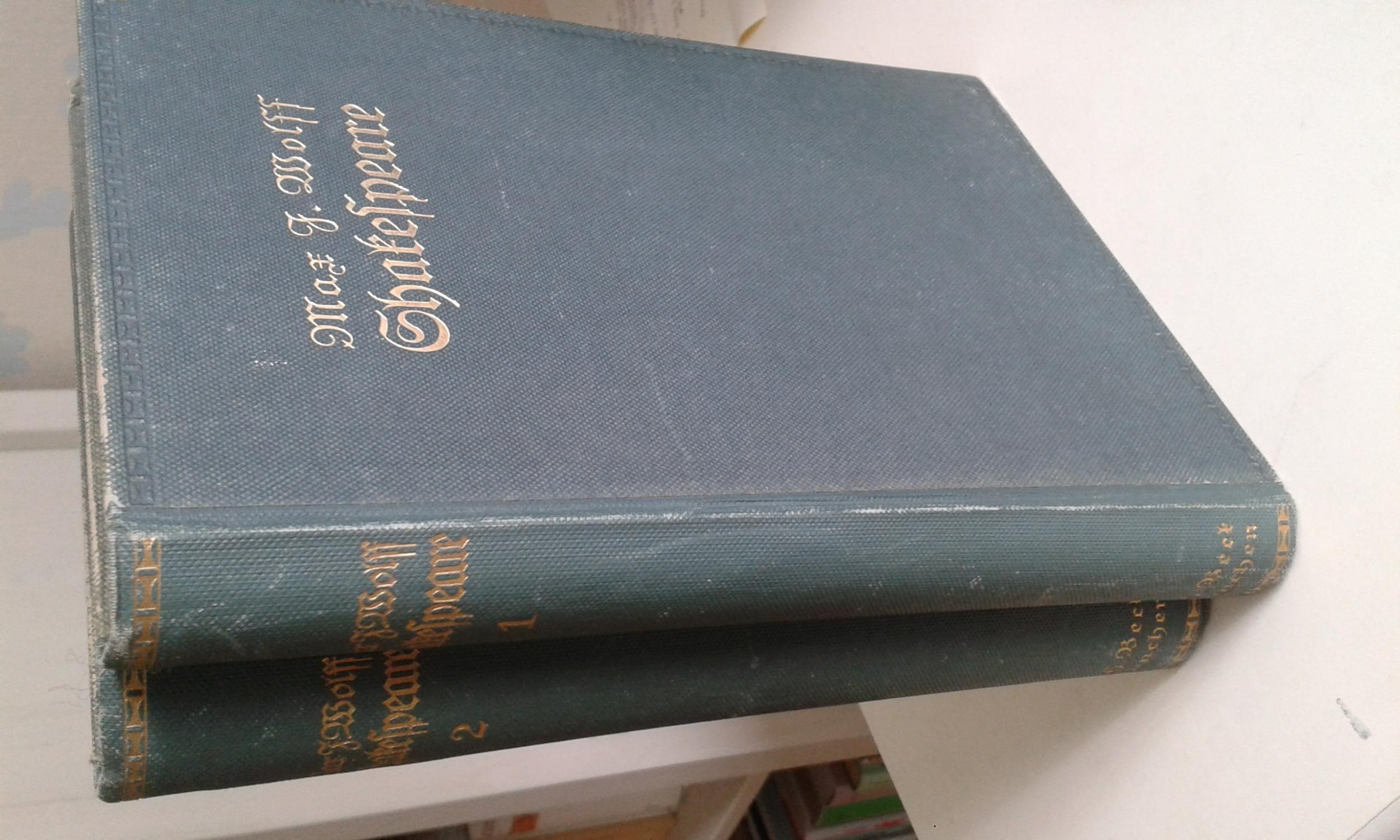 Shakespeare - 2 Bände: Wolff, Max J.