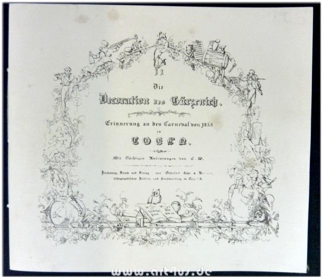 Die Decoration des Gürzenich : Erinnerung an: W., E.: