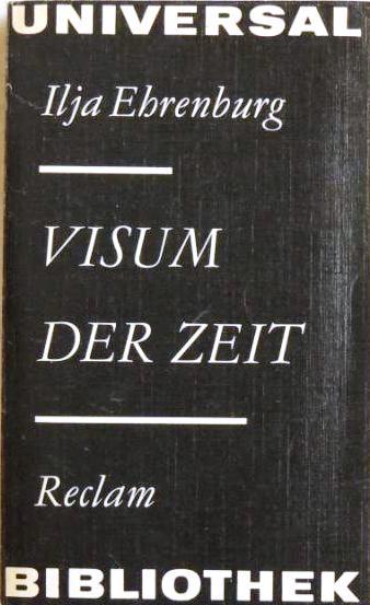 Visum der Zeit;: Ehrenburg, Ilja