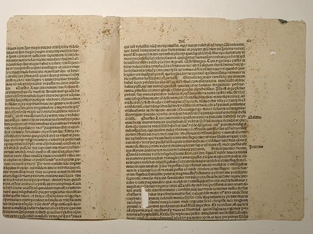 Opuscula. (GWM 19478, CR 3686). Blattfragment 40.: Raimundus Lullus: